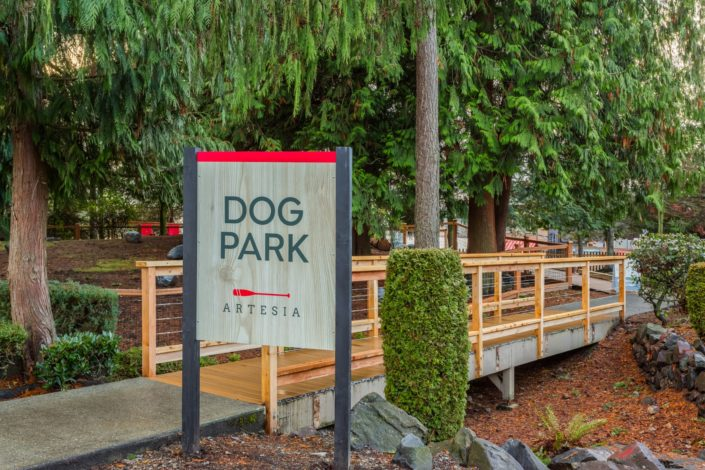 Dog park at The Artesia Apartments