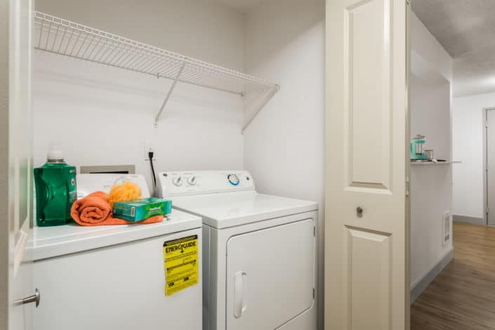 Washer and Dryer in every apartment. Artesia Apartments, Everett, WA