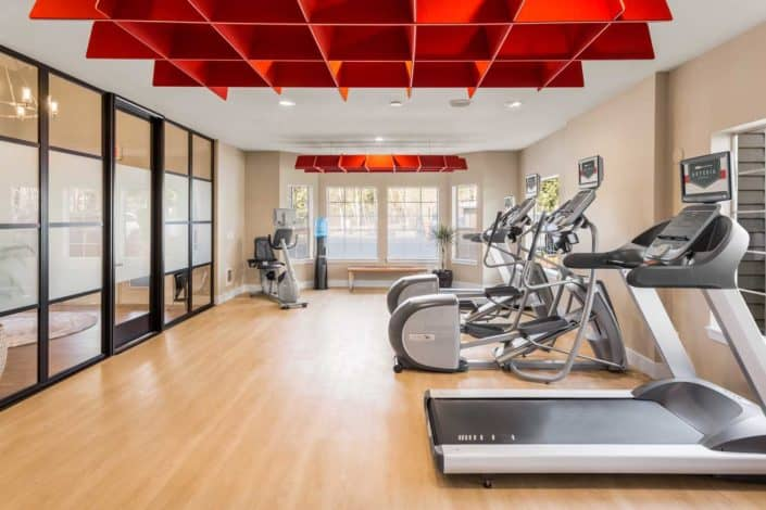 All-new, expanded fitness center - Artesia Apartments in Everett, WA